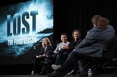 "<p>Cast members (L-R) Emilie de Ravin of Australia, Daniel Dae Kim, Josh Holloway and Jorge Garcia (R) among others of the series ""Lost"" participate in a panel discussion about its final season at the Disney ABC winter 2010 Television Critics Association press tour in Pasadena, California, January 12, 2010. REUTERS/Danny Moloshok</p>"