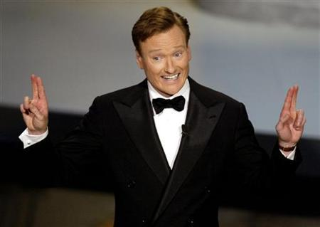 Talk show host Conan O'Brien hosts the 54th annual Emmy Awards in Los Angeles September 22, 2002. REUTERS/Adrees Latif