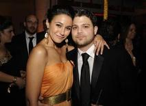 <p>Actress Emmanuelle Chriqui (L) and actor Jerry Ferrara attend the HBO after party for the 67th annual Golden Globe Awards in Beverly Hills, California January 17, 2010. REUTERS/Phil McCarten</p>