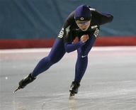 <p>Lee, pattinatrice coreana, durante un allenamento di preparazione alle prossime olimpiadi. REUTERS/Choi Bu-Seok</p>