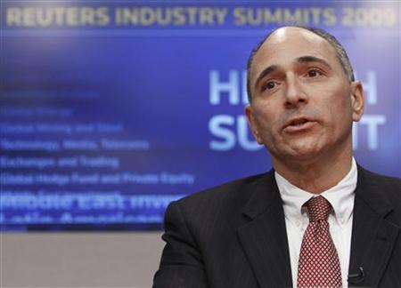 Joe Jimenez, CEO of Novartis Pharma AG, speaks at the Reuters Health Summit in New York, November 9, 2009. REUTERS/Brendan McDermid