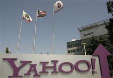 <p>Foto de archivo de la casa matriz de la compañía Yahoo en Sunnyvale, EEUU, mayo 5 2008. Yahoo reportó el martes ganancias para el cuarto trimestre que estuvieron en línea con las expectativas del mercado. REUTERS/Robert Galbraith</p>