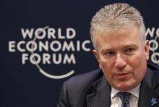 <p>CEO of NYSE Euronext Duncan Niederauer speaks during a session on Redesigning Capital Markets during the World Economic Forum (WEF) in Davos January 29, 2010. REUTERS/Arnd Wiegmann</p>