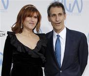 <p>Amy Pascal e Michael Lynton, presidenti di Sony Pictures Entertainment, in una foto d'archivio. REUTERS/Danny Moloshok</p>