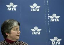 <p>22 gennaio 2010. Janet Napolitano, segretario del Dipartimento di Sicurezza Interna americano, alla conferenza della Iata a Ginevra. REUTERS/Denis Balibouse</p>