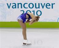 <p>Carolina Kostner dopo la gara di ieri sera, nella quale si è piazzata 16esima. REUTERS/David Gray (CANADA)</p>