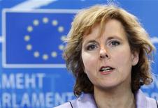 <p>Connie Hedegaard, commissario europeo al clima, in foto d'archivio. REUTERS/Thierry Roge</p>