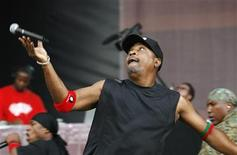 "<p>Musician Carlton ""Chuck D"" Ridenhour performs with ""Public Enemy"" during the Rock The Bells Festival in New York in this July 28, 2007 file photo. REUTERS/Lucas Jackson</p>"