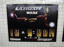 <p>A sample of art done by Poster Boy, a group of urban artists whose work is being published in an upcoming book, is seen on a wall in a subway station in New York in this undated handout. In New York City's subway system, self-described vandals who share the name Poster Boy have a political agenda: make passengers question the barrage of advertising they face each day. REUTERS/Courtsey Mark Batty Publisher/Handout</p>