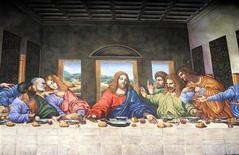 "<p>Dipinto de ""L'Ultima Cena"" in foto d'archivio. REUTERS/Lucas Jackson</p>"