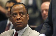 <p>Conrad Murray, the late Michael Jackson's personal physician, sits in court during his arraignment at the Los Angeles Superior Court Airport Branch Courthouse February 8, 2010, on one count of involuntary manslaughter in Jackson's death. REUTERS/Mark Boster/Pool</p>