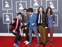"<p>The band ""MGMT"" arrives at the 52nd annual Grammy Awards in Los Angeles January 31, 2010. REUTERS/Mario Anzuoni</p>"
