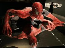 "<p>A model of Spider-Man is displayed at an exhibition ahead of the ""Spider-Man 3"" world premiere in Tokyo April 16, 2007. REUTERS/Yuriko Nakao</p>"