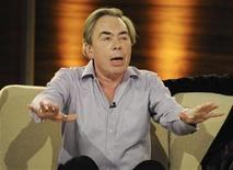 "<p>Composer Andrew Lloyd Webber speaks during the German game show ""Wetten Dass"" (Bet it...?) in Salzburg, March 27, 2010. REUTERS/Kerstin Joensson/Pool</p>"
