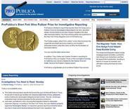 <p>A screen grab of ProPublica's web site. REUTERS/www.propublica.com/Handout</p>
