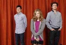 "<p>(L-R) Christopher Mintz-Plasse, Chloe Moretz, and Aaron Johnson pose for a portrait while promoting the film ""Kick-Ass"" in New York, April 8, 2010. REUTERS/Lucas Jackson</p>"