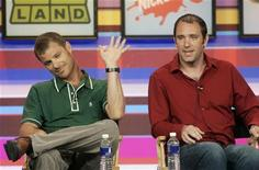 """<p>Criadores de """"South Park"""" Matt Stone (esquerda) e Trey Parker participam de debate em 2006. Foto de arquivo. REUTERS/Fred Prouser</p>"""