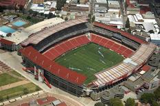 <p>Lo stadio Ellis Park di Johannesburg, foto d'archivio. REUTERS/Euroluftbild.de</p>