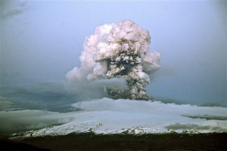 Icelandic volcano eases but eruptions continue