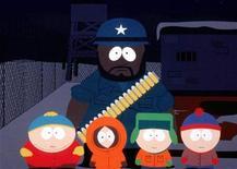 """<p>Imagen de archivo. De izquierda a derecha: Cartman, Kenny, Kyle y Stan junto a Chef (al fondo) de la serie """"South Park"""". Un grupo musulmán estadounidense emitió una severa """"advertencia"""" en internet para los creadores de la satírica serie animada """"South Park"""" por su representación del Profeta Mahoma en un disfraz de oso. REUTERS/STR New</p>"""