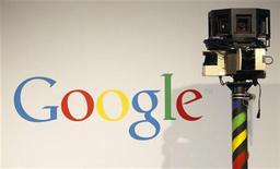 <p>A camera used for Google street view is pictured at the CeBIT computer fair in Hanover March 2, 2010. REUTERS/Christian Charisius</p>