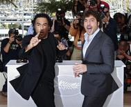 "<p>Director Alejandro Gonzalez Inarritu (L) and cast member Javier Bardem pose during a photocall for the film ""Biutiful"" at the 63rd Cannes Film Festival May 17, 2010. REUTERS/Yves Herman</p>"