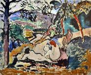 "<p>A reproduction of ""Pastorale, Nympe et Faune"" painted in 1906 by Henri Matisse is seen in this undated handout. REUTERS/Handout</p>"