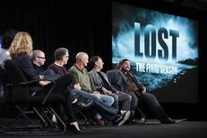 """<p>(L-R) Cast member Emilie de Ravin, co-creator and executive producer Damon Lindelof, executive producer Carlton Cuse, and cast members Terry O'Quinn, Michael Emerson and Jorge Garcia of the series """"Lost"""" participate in a panel discussion about the show's final season at the Disney ABC winter 2010 Television Critics Association press tour in Pasadena, California, January 12, 2010. REUTERS/Danny Moloshok</p>"""
