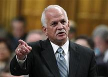 <p>Canada's Public Safety Minister Vic Toews speaks during Question Period in the House of Commons on Parliament Hill in Ottawa May 6, 2010. REUTERS/Chris Wattie</p>