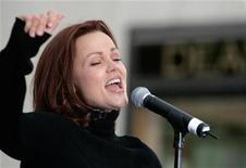"<p>Belinda Carlisle of the Go-Go's, performs on NBC's ""Today"" show at Rockefeller Center in New York May 19, 2006. REUTERS/Brendan McDermid</p>"