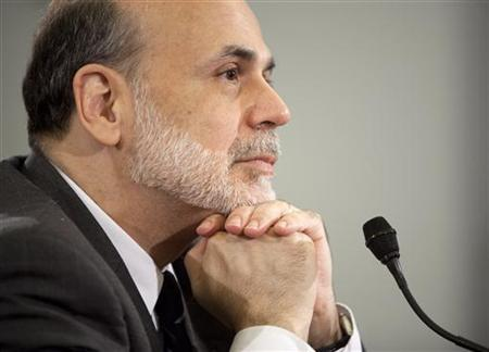 Fed Chairman Ben Bernanke testifies to the House Budget Committee on Capitol Hill, June 9, 2010. REUTERS/Joshua Roberts