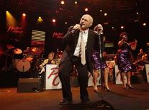 """<p>British singer Phil Collins performs during """"Up Close & Personal: Phil Collins Plays '60s Motown and Soul"""" during the 44th Montreux Jazz Festival in Montreux July 1, 2010. REUTERS/Denis Balibouse</p>"""