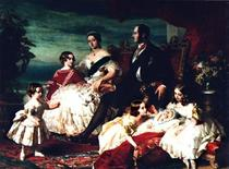 <p>Queen Victoria and family in a painting by Frans Xaver Winterhalter. REUTERS/Files</p>