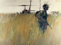 "<p>""Landing Zone"" by John Wehrle, Vietnam, 1966. REUTERS/National Constitution Center</p>"