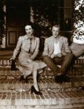 <p>A photo of Edward VIII with Wallis Simpson is seen at Christies auction house in Rome June 16, 2004. REUTERS/Max Rossi</p>