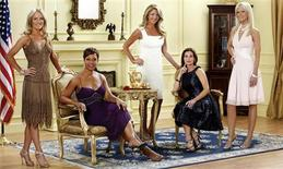 <p>The cast of the Bravo Network's reality series 'The Real Housewives of Washington D.C. From left are Catherine Ommanney, Stacie Scott Turner, Mary Schmidt Amons, Lynda Erkiletian and Michaele Salahi. REUTERS/Bravo Network/Handout</p>