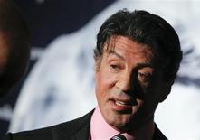 "<p>Ator Sylvester Stallone é astro ee ""Os Mercenários"". REUTERS/Thomas Peter</p>"