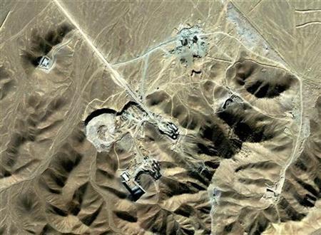 A suspected uranium-enrichment facility near Qom, southwest of Tehran, in a September 2009 satellite photo released by DigitalGlobe. REUTERS/DigitalGlobe/Handout