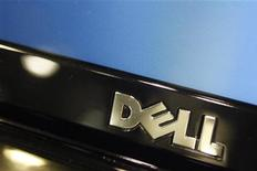 <p>Dell a publié jeudi un chiffre d'affaires et un bénéfice supérieurs aux attentes pour le deuxième trimestre et il prévoit une poursuite de la reprise de la demande des professionnels pour les PC au cours des prochains trimestres. Sa marge de bénéfices est en revanche ressortie inférieure aux attentes de Wall Street et le titre a cédé du terrain en après-Bourse. /Photo prise le 18 février 2010/REUTERS/Joshua Lott</p>