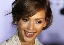 """<p>Jessica Alba na semana da moda de Berlim. A atriz está negociando sua participação no quarto filme da série """"Pequenos Espiões"""", de Robert Rodriguez. 08/07/2010 REUTERS/Thomas Peter/Arquivo</p>"""