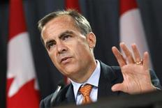 <p>Bank of Canada Governor Mark Carney speaks during a news conference upon the release of the Monetary Policy Report in Ottawa in this July 22, 2010 file photo. REUTERS/Chris Wattie</p>