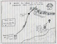 <p>Lola Pellegrino drew this map for an ex-boyfriend to let him know she was still around after he broke up with his latest girlfriend. REUTERS/Lola Pellegrino/Handout</p>