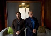 <p>U.S. director/actor Emilio Estevez (L) and his father, U.S. actor Martin Sheen pose for a portrait to promote the film 'The Way' during the 35th Toronto International Film Festival September 10, 2010. REUTERS/Adrien Veczan</p>