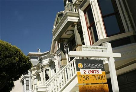 A pair of housing units are shown for sale in San Francisco, California in this August 24, 2010 file photo. REUTERS/Robert Galbraith