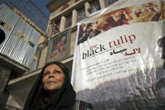 "<p>Director Sonia Nassery Cole speaks to the media during the premiere of her film ""Black Tulip"" at the Ariana cinema in Kabul September 23, 2010. REUTERS/Ahmad Masood</p>"
