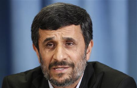 Iran's President Mahmoud Ahmadinejad speaks during a news conference in New York, September 24, 2010. U.S. President Barack Obama on Friday strongly condemned comments by Iranian President Mahmoud Ahmadinejad that implied a U.S. government role in the Sept. 11, 2001, attacks on the United States. REUTERS/Lucas Jackson