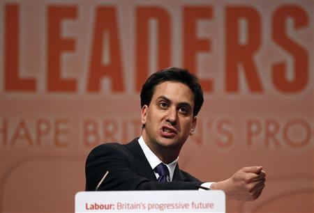 Former cabinet member Ed Miliband speaks after being named the new leader of the Labour Party at their annual conference in Manchester September 25, 2010. REUTERS/Darren Staples