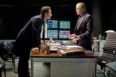 """<p>Michael Douglas and Shia LaBeouf in a scene from """"Wall Street: Money Never Sleeps"""". REUTERS/20th Century Fox</p>"""