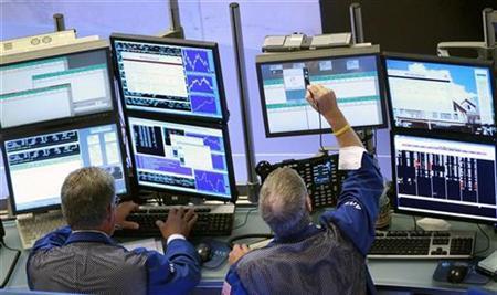 Traders work on the floor of the New York Stock Exchange, August 16, 2010. REUTERS/Brendan McDermid