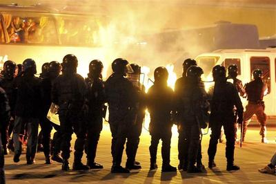 Serbia vs Italy turns violent